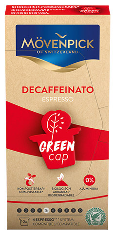 Movenpick coffee capsules Decaffeinato